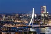 Te Koop | De Erasmusbrug en Maastoren op de Kop van Zuid in Rotterdam
