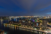 Het uitzicht over de Haven van Rotterdam by Night