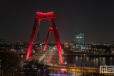De Willemsbrug en De Hef in Rotterdam by Night