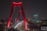 De Willemsbrug en De Hef op het Noordereiland in Rotterdam by Night