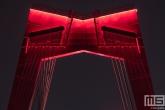 Te Koop | De pyloon van de Willemsbrug in Rotterdam in detail