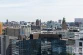 De binnenstad van Rotterdam met het Hilton Hotel, Stadhuis en Timmerhuis in Rotterdam-Centrum