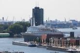 Het cruiseschip SS Rotterdam in Rotterdam-Katendrecht