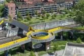 De Luchtsingel van bovenaf tijdens de Rotterdamse Dakendagen in Rotterdam