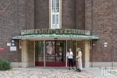 De ingang van het Erasmiaans Gymnasium in Rotterdam