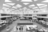 Het plafond van de Medische Bibliotheek van het Erasmus MC in Rotterdam