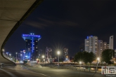 De Erasmusbrug in Rotterdam by Night met uitzicht op het Inntel Hotel Rotterdam