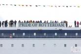 De P&O Ferries Pride of Rotterdam tijdens de Wereldhavendagen 2019 in Rotterdam