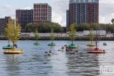 De Rijnhaven tijdens een demonstratie op de Wereldhavendagen 2019 in Rotterdam