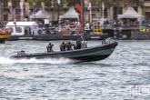 De mariniers tijdens een demonstratie op de Wereldhavendagen 2019 in Rotterdam