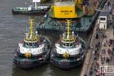 De Sleepboot Multratug 32 en 33 tijdens de Wereldhavendagen 2019 in Rotterdam