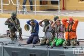 De piraten tijdens een demonstratie op de Wereldhavendagen 2019 in Rotterdam