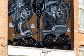 Een mural door Dodici tijdens het Pow! Wow! Festval in de Afrikaanderwijk in Rotterdam