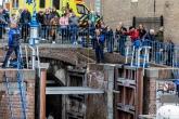 Een sluiswachter op het nautische festijn de Furieade in Maassluis 2019