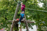 """De scoutinggroep Karel Doormangroep in het Park """"De Vliet"""" in Maassluis"""