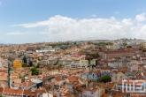Een panorama van de stad Lissabon in Portugal