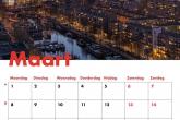 Te Koop | De Rotterdamse binnenstad tijdens zonsondergang