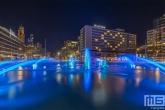 Het hart op het Hilton Hotel in Rotterdam by Night