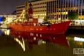 Het lichtschip Vessel11 in de Wijnhaven in Rotterdam