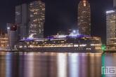 Het cruiseschip Norwegian Star aan de Cruise Port Rotterdam