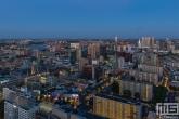 Te Koop | De skyline van Rotterdam Centrum in de nachtelijke uren