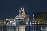 Te Koop | Het cruiseschip ss Rotterdam in Rotterdam Katendrecht in de nacht