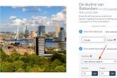 Her Euromastpark in Rotterdam met schitterende  Hollandse wolken (vierkant)