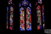 Het glas in lood van de kathedraal de Dom in Trier in Duitsland