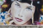 Een graffitimuur in Trier in Duitsland