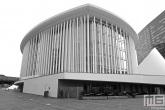 Het gebouw van Philharmonie in Luxemburg-City
