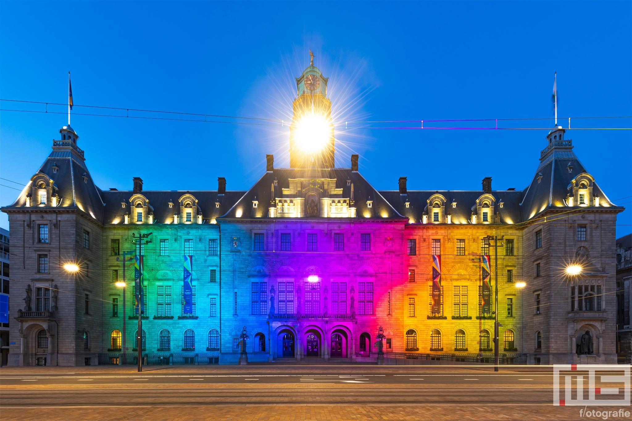 Het aller aller mooiste en kleurrijkste stadhuis van Rotterdam op de Coolsingel