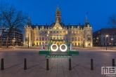 De vernieuwde Coolsingel met het stadhuis in Rotterdam