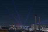 Het uitzicht op Rotterdam Verlicht in Rotterdam-Zuid vanuit een unieke locatie