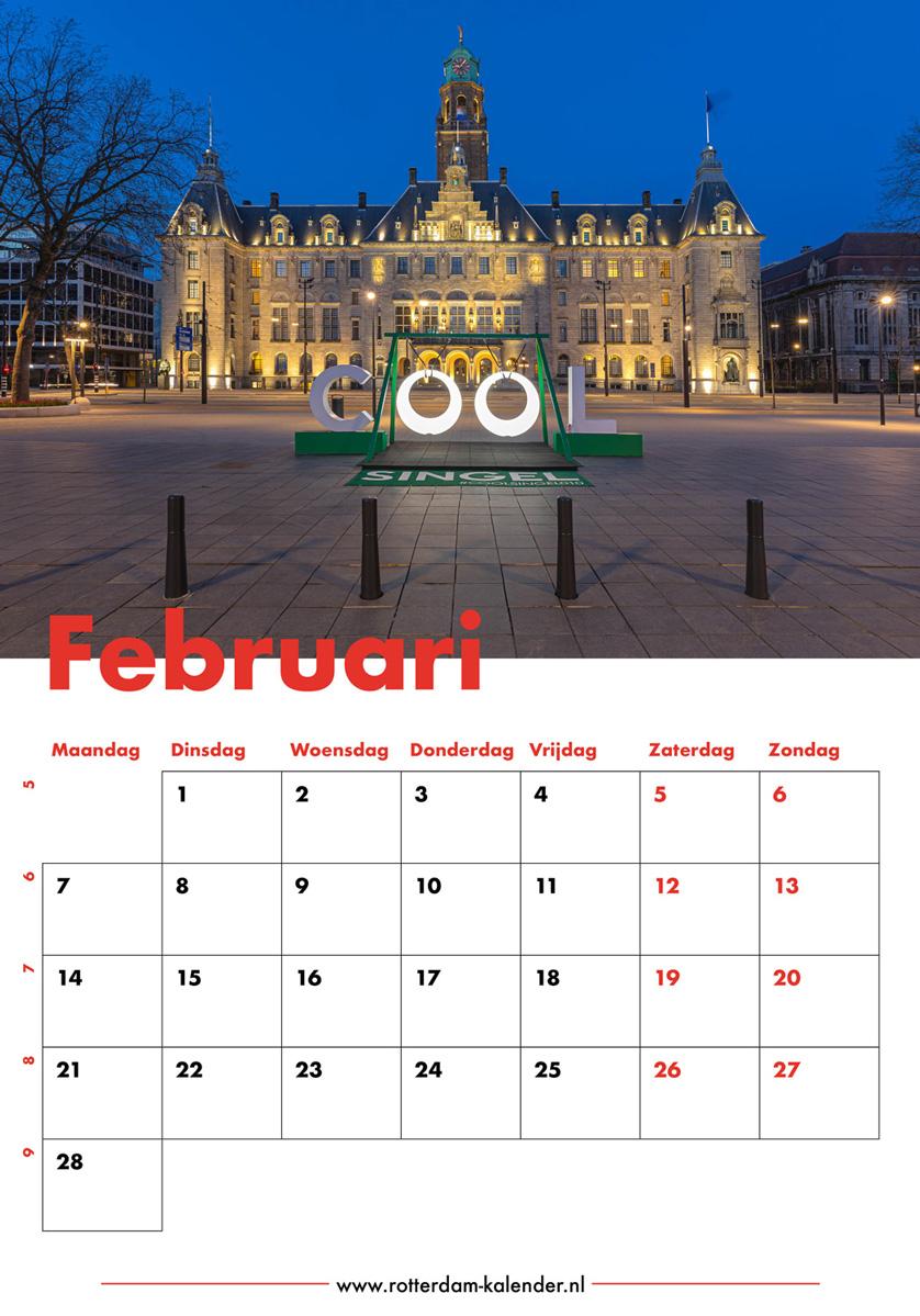 Te Koop | Het stadhuis van Rotterdam tijdens het blauwe uurtje