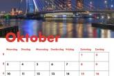 Te Koop | De Erasmusbrug in Rotterdam in de kleuren Rood, Wit, Blauw