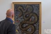 De Art Rotterdam Week 2021 in Rotterdam met een doek genaamd Snake 2 van kunstenaar Hans Lemmen