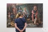 De Art Rotterdam Week 2021 in Rotterdam met een doek van kunstenaar Sam Andrea