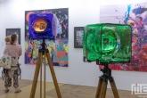 De Art Rotterdam Week 2021 in Rotterdam met een lichtkunst van Zerp Gallery uit Rotterdam