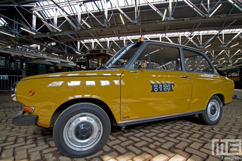 Het Trammuseum Rotterdam van Stichting RoMeO met het oude RET-auto