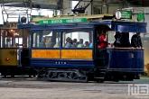 Het Trammuseum Rotterdam van Stichting RoMeO met de tram van tramlijn 1 en 5