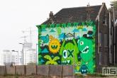 Het Pow! Wow! Rotterdam 2021 in Rotterdam Feijenoord door Ox Alien