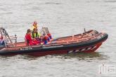 De reddingsboot DRB39 van de KNRM van de Wereldhavendagen in Rotterdam