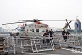 Het heliplatform op het marineschip Zr. Ms. Karel Doorman (A833) tijdens de Wereldhavendagen in Rotterdam