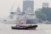De reddingsboot van de KNRM van de Wereldhavendagen in Rotterdam