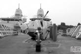 Het voordek van een marineschip tijdens de Wereldhavendagen in Rotterdam