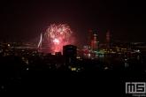 De vuurwerkshow van de Wereldhavendagen in Rotterdam
