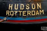 Een detail van het schip Hudson Rotterdam tijdens de Furiade in Maassluis