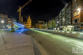 Het busstation in het centrum van Leuven in de nachtelijke uren