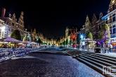 De Oude Markt in Leuven in de nachtelijke uren