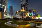 Hotel New York op de Wilhelminapier in Rotterdam by Night